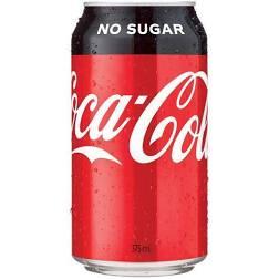 Coke no sugar (375ml)