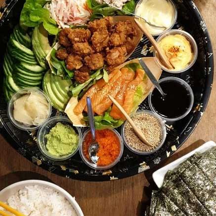 D.I.Y. Family Platter (34 portions of Temaki and Gunkan)